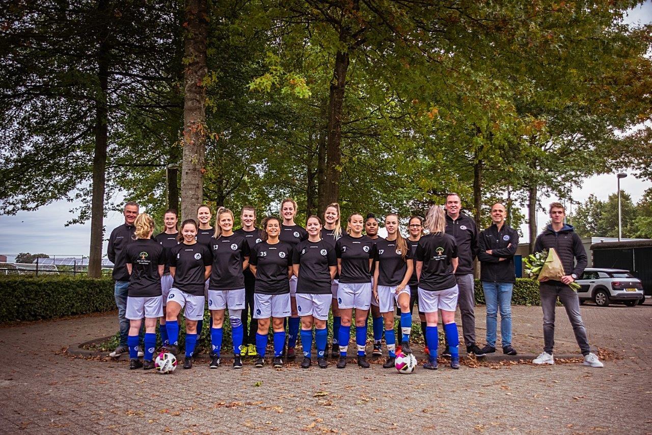Bart van Stiphout Boomverzorging & Tuinonderhoud nieuwe inloopshirtsponsor  Damesselectie