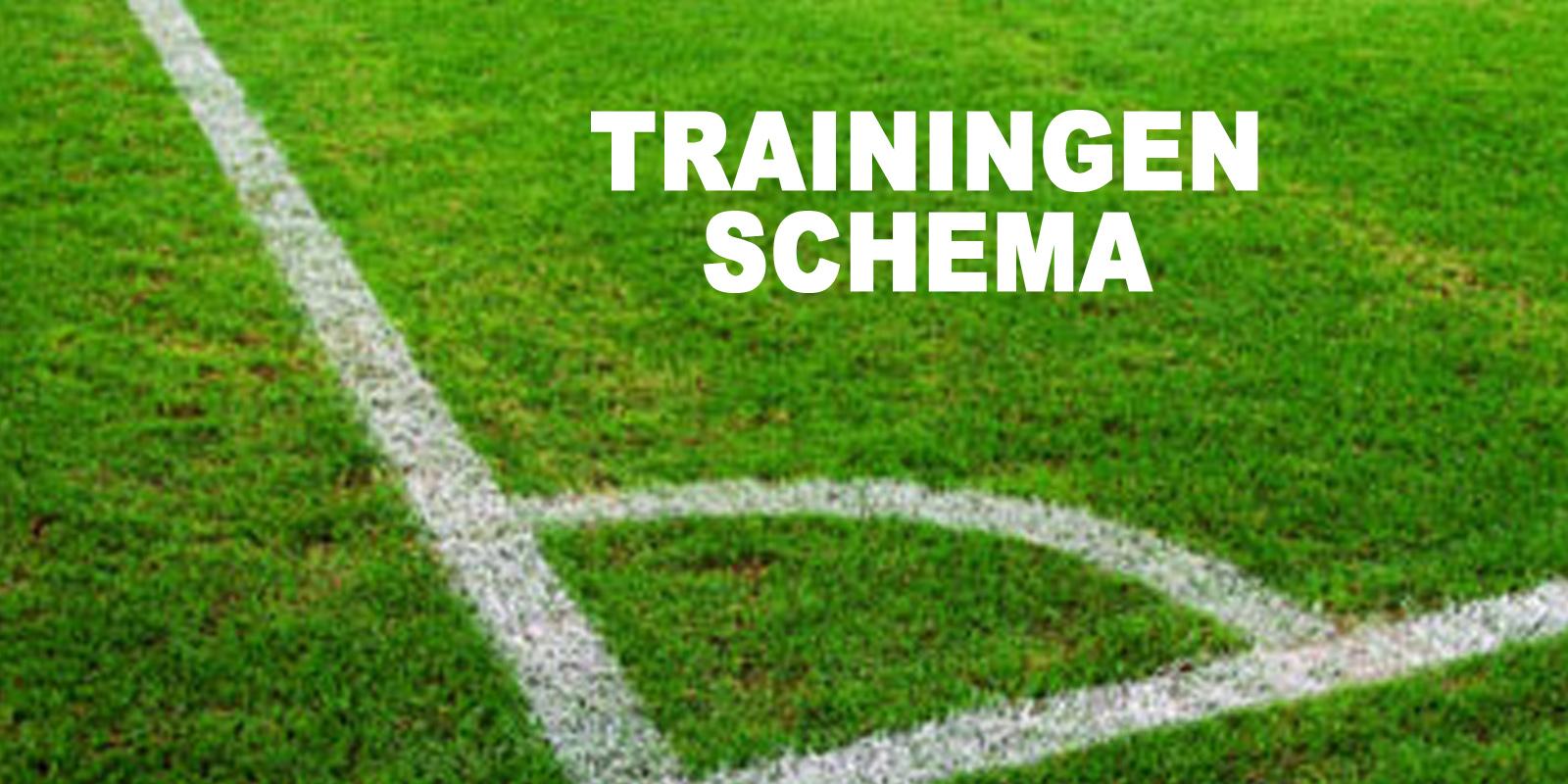 Trainingsschema elftallen 2021-2022